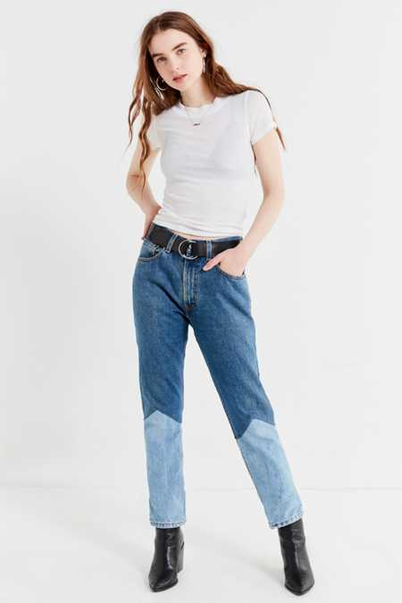 Urban Renewal Recycled Seamed Panel Levi's Jeans