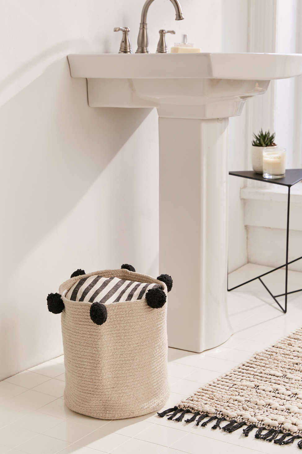 Slide View: 1: Lorena Canals Bubbly Pom Laundry Basket