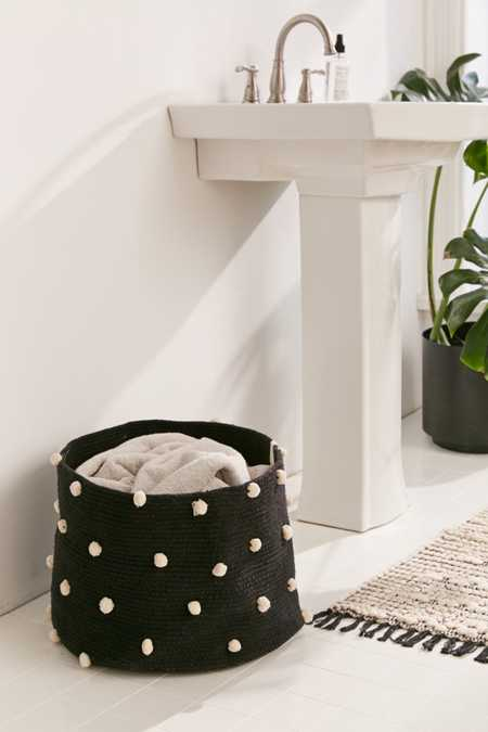 Lorena Canals Pebble Pom Laundry Basket