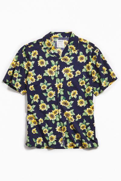 Fair Play Sunflower Daze Short Sleeve Button Down Shirt by Fair Play
