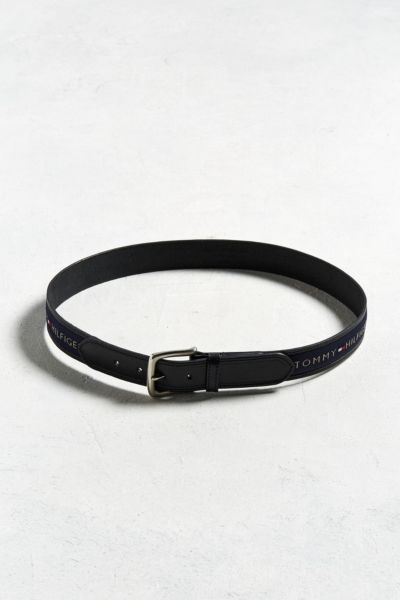 Tommy Hilfiger Logo Belt - Black 32 at Urban Outfitters