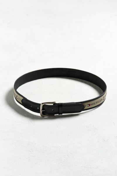 Tommy Hilfiger Logo Belt - Taupe 32 at Urban Outfitters