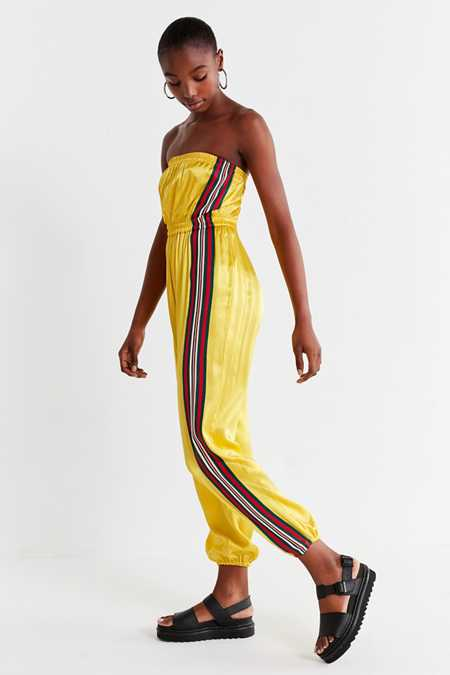 UO Striped Tube Top Jumpsuit