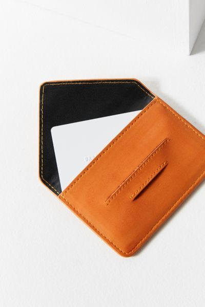 Mini Envelope Card Case - Brown One Size at Urban Outfitters
