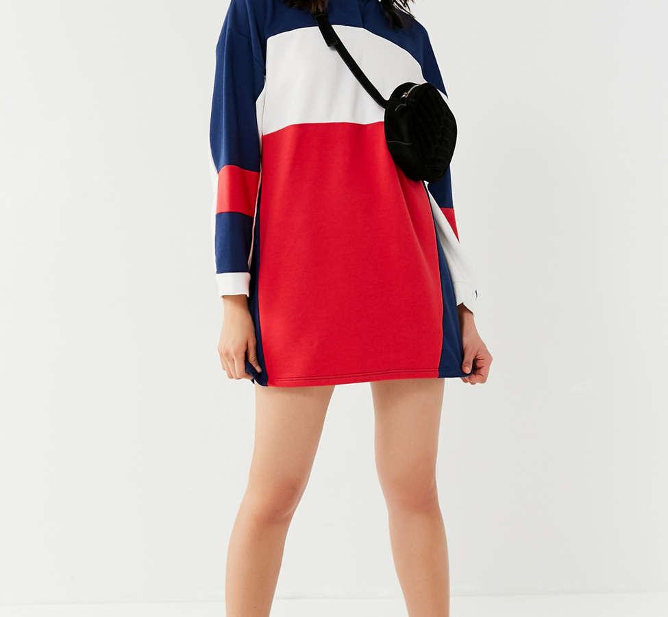 Slide View: 2: UO Colorblock Rugby T-Shirt Dress
