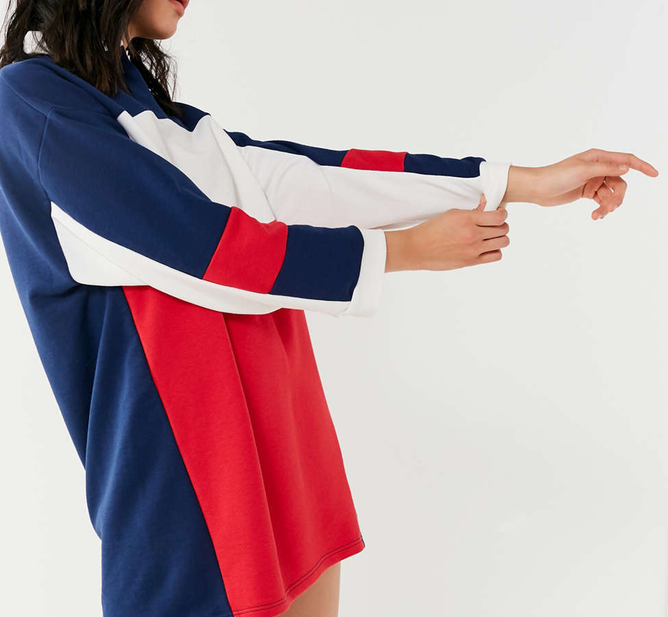 Slide View: 3: UO Colorblock Rugby T-Shirt Dress