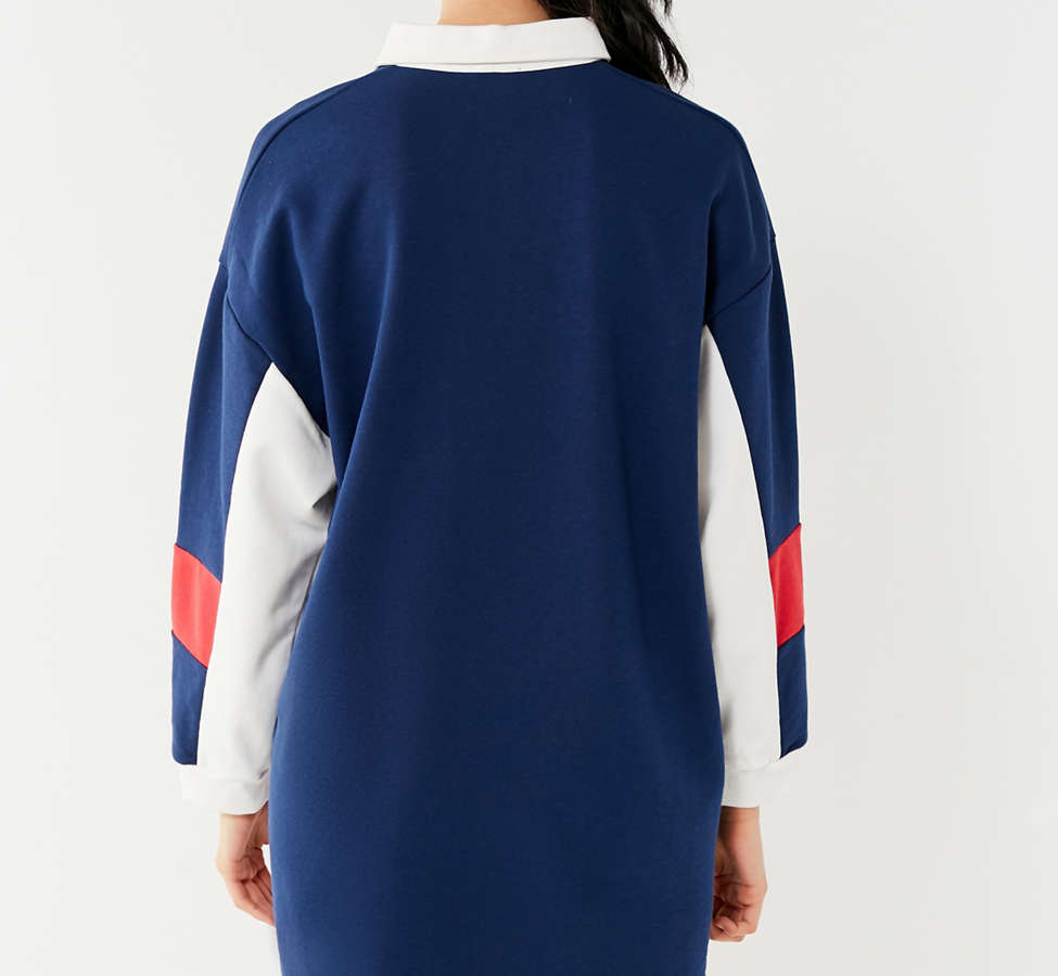 Slide View: 4: UO Colorblock Rugby T-Shirt Dress