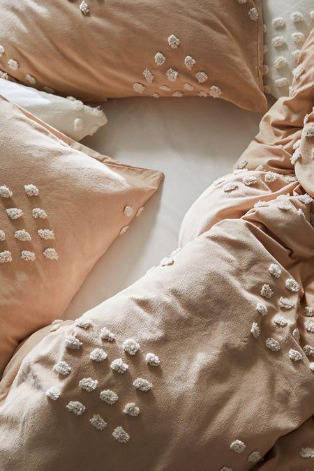 tufted geo duvet cover - Vintage Bedding