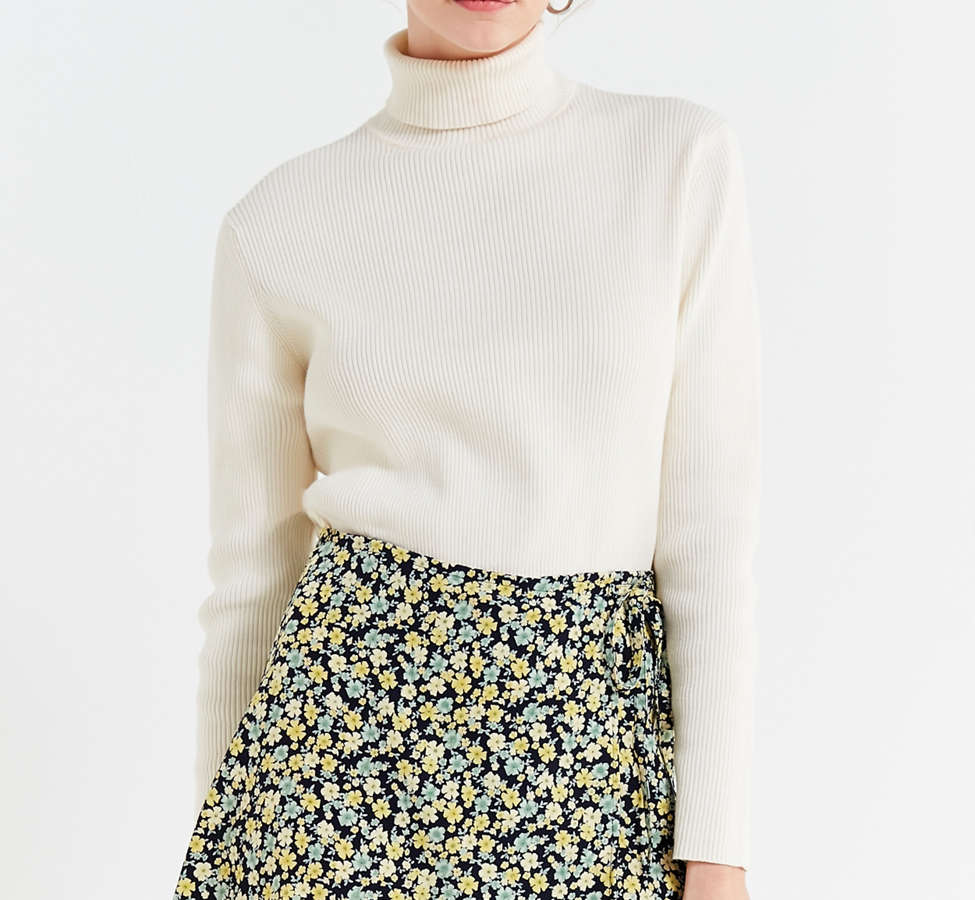 Slide View: 1: Urban Renewal Remade Floral Wrap Skirt