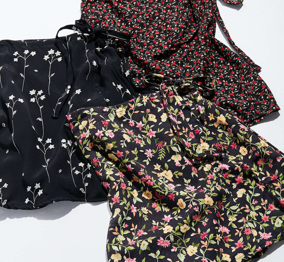 Slide View: 3: Urban Renewal Remade Floral Wrap Skirt