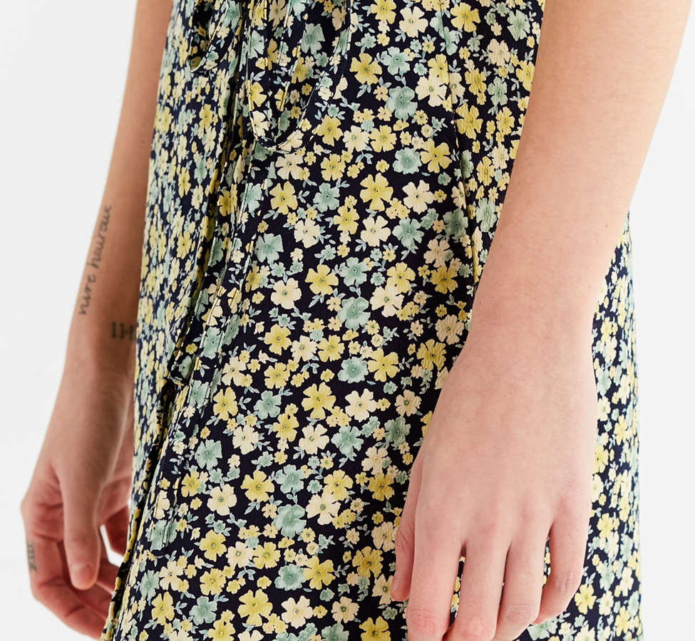 Slide View: 4: Urban Renewal Remade Floral Wrap Skirt