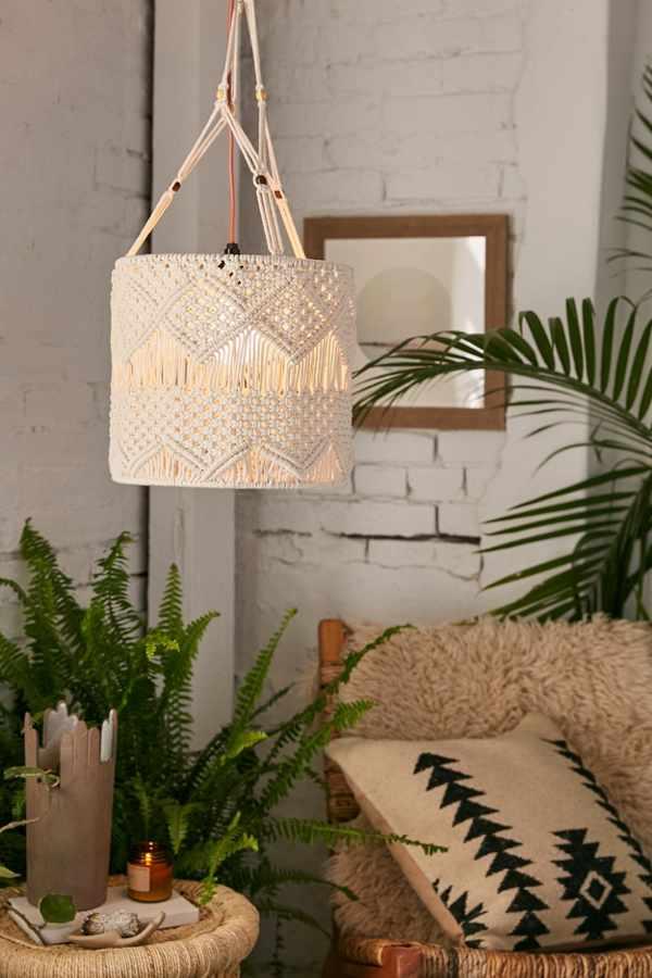 Macramé Pendant Light | Urban Outfitters