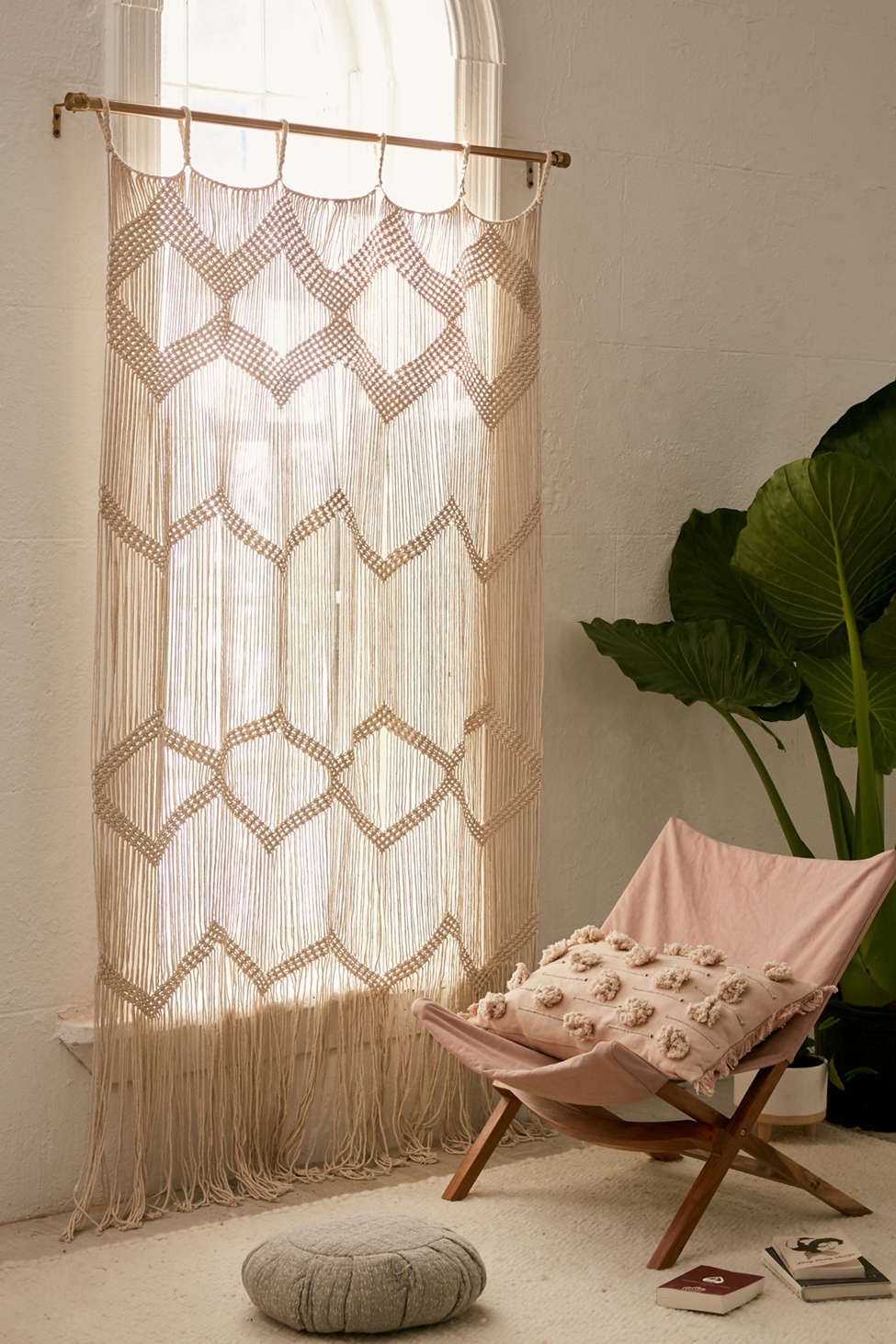 Slide View: 6: Meadowsweet Macramé Panel