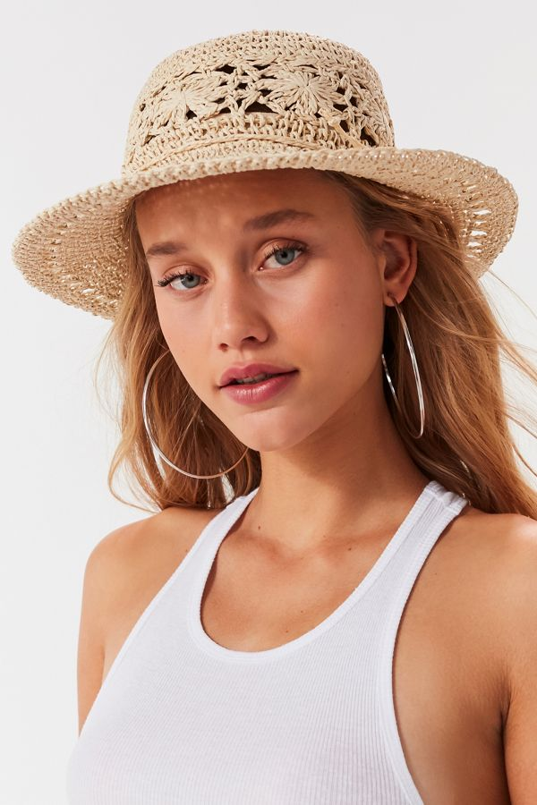 Floral Crochet Bucket Hat  e2236fa9667