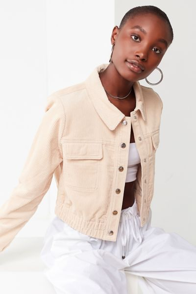 Uo No Excuse Cropped Corduroy Jacket by Urban Outfitters