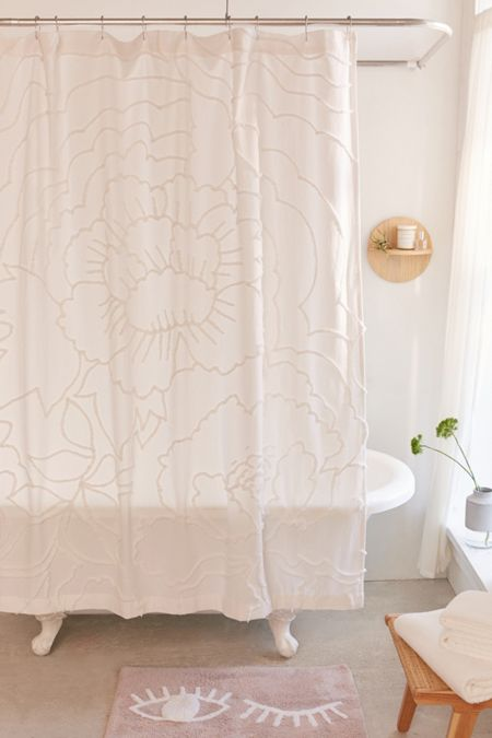 Shower curtains bathroom curtains urban outfitters margot tufted floral shower curtain gumiabroncs Choice Image