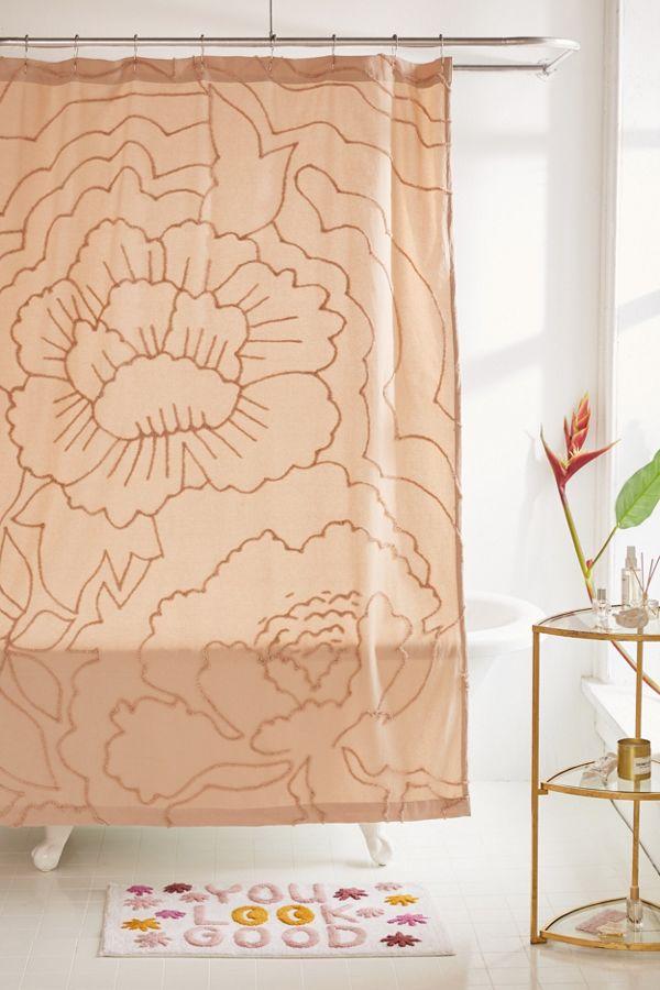 Slide View 1 Margot Tufted Floral Shower Curtain