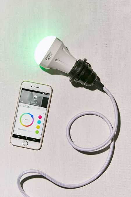 Sharper Image Alexa-Enabled Wi-Fi Color-Changing Smart Bulb