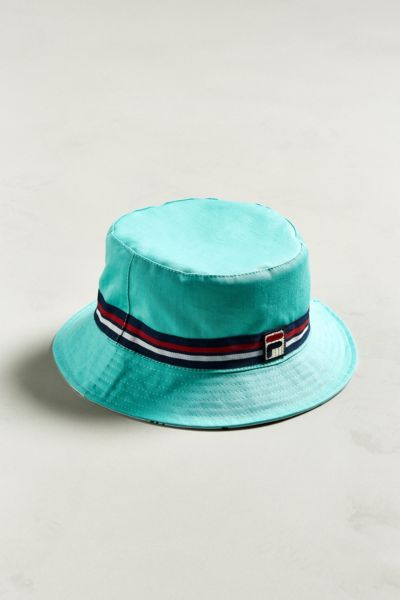 FILA Reversible Bucket Hat - Mint One Size at Urban Outfitters