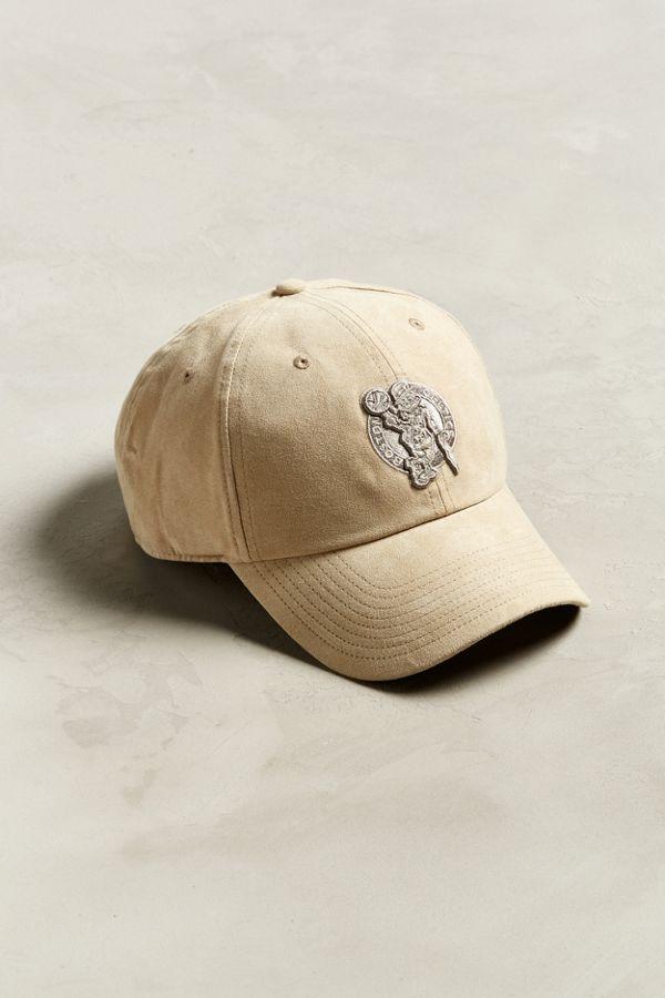 47 Brand Boston Celtics Clean Faux Suede Baseball Hat  b65418f57cd