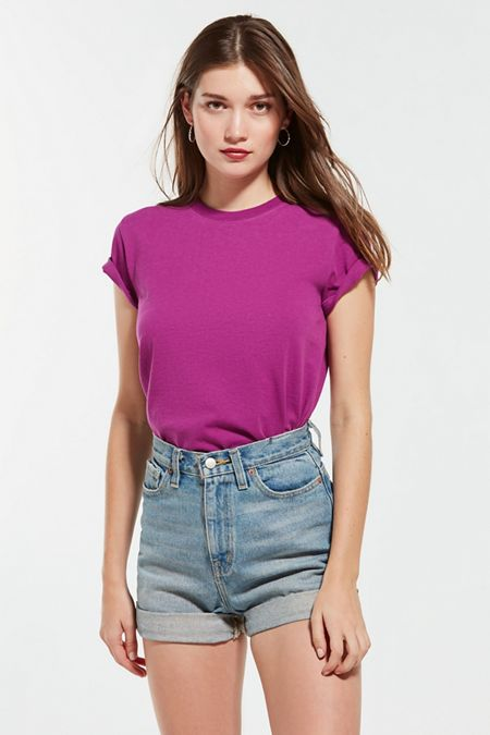 Cheap Sale Official Site Womens Ladies Basic Drop Shoulder Tee T-Shirt Urban Classic Shopping Cheap Get To Buy pT2P14F7