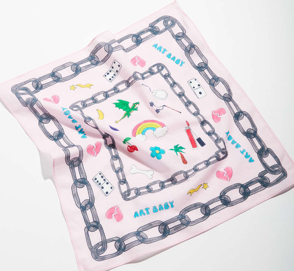 Slide View: 2: Art Baby Girl Square Scarf