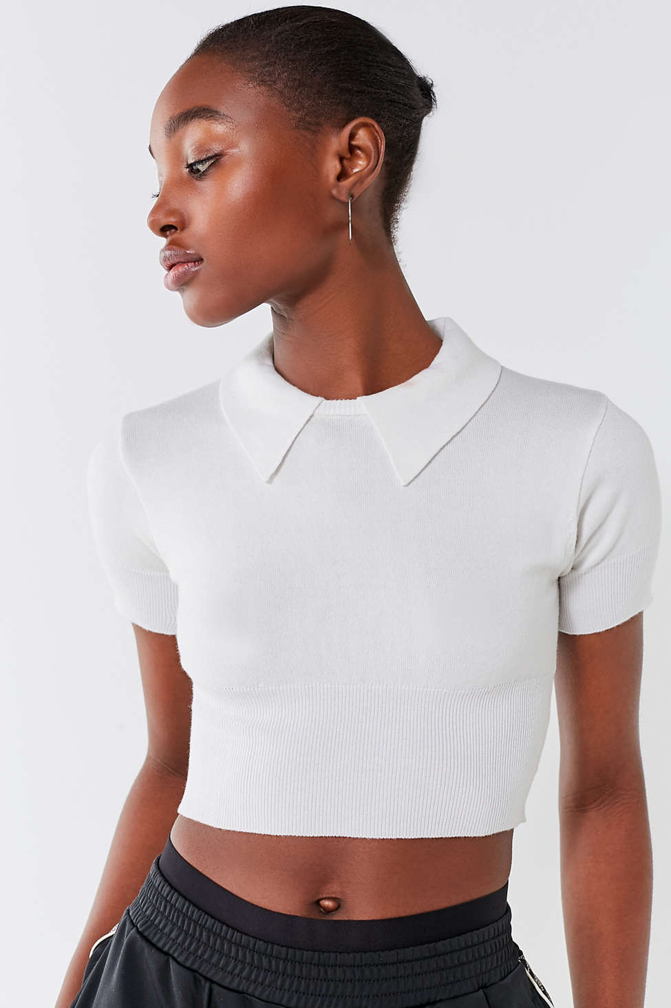 Uo Aubrey Cropped Sweater Tee Urban Outfitters Canada