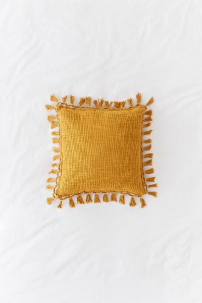 Gemma Fringe Throw Pillow | Urban