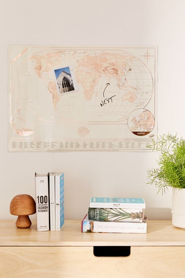 Magnetic scratch off world map urban outfitters slide view 1 magnetic scratch off world map gumiabroncs Choice Image
