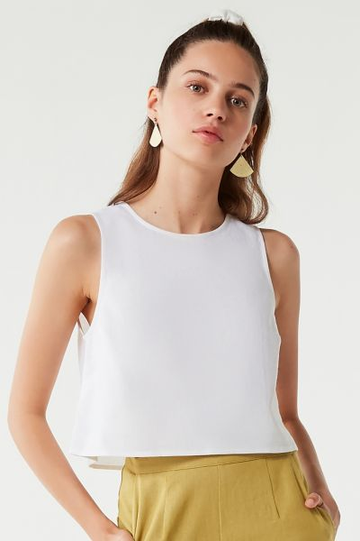 Uo Shell Cropped Top by Urban Outfitters