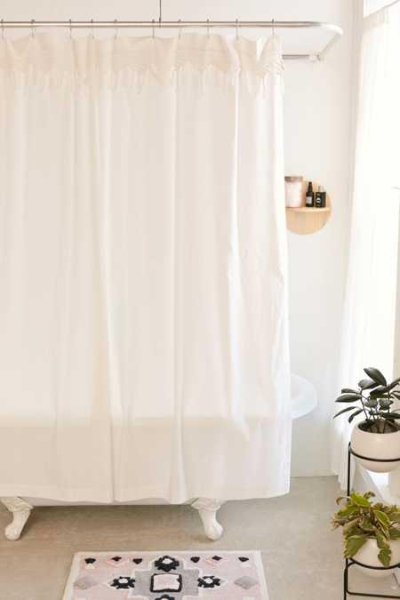 Aura hammock fringe shower curtain