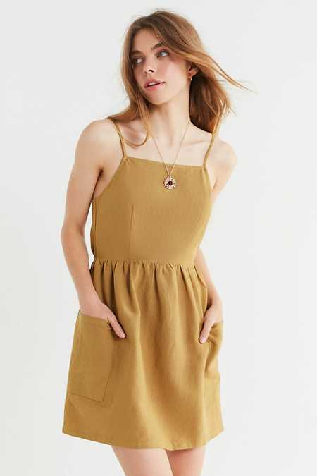 UO Linen Tie-Back Dress