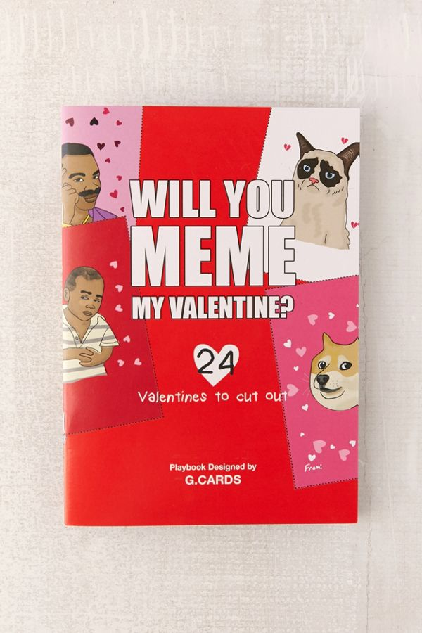 will you meme my valentine card pack urban outfitters
