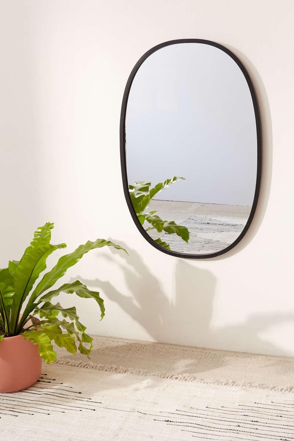 Slide View: 1: Hub Oval Mirror