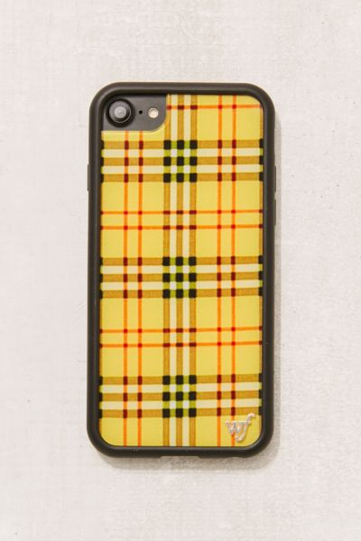 Wildflower X UO Plaid iPhone 6/7/8 Case - Yellow One Size at Urban Outfitters