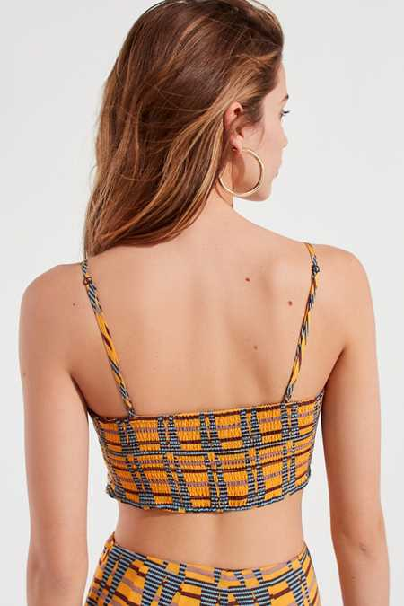 Slide View: 2: UO Dolores Tie-Front Cropped Tank Top