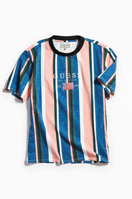 Mens tops t shirts hoodies more urban outfitters guess david sayer stripe tee gumiabroncs Image collections
