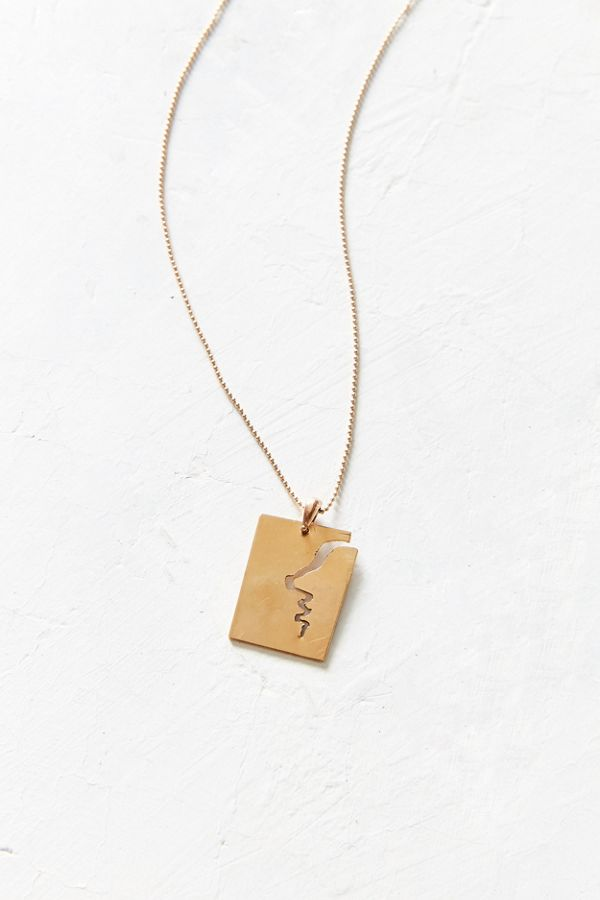 Oxbow designs silhouette pendant necklace urban outfitters slide view 1 oxbow designs silhouette pendant necklace aloadofball Image collections
