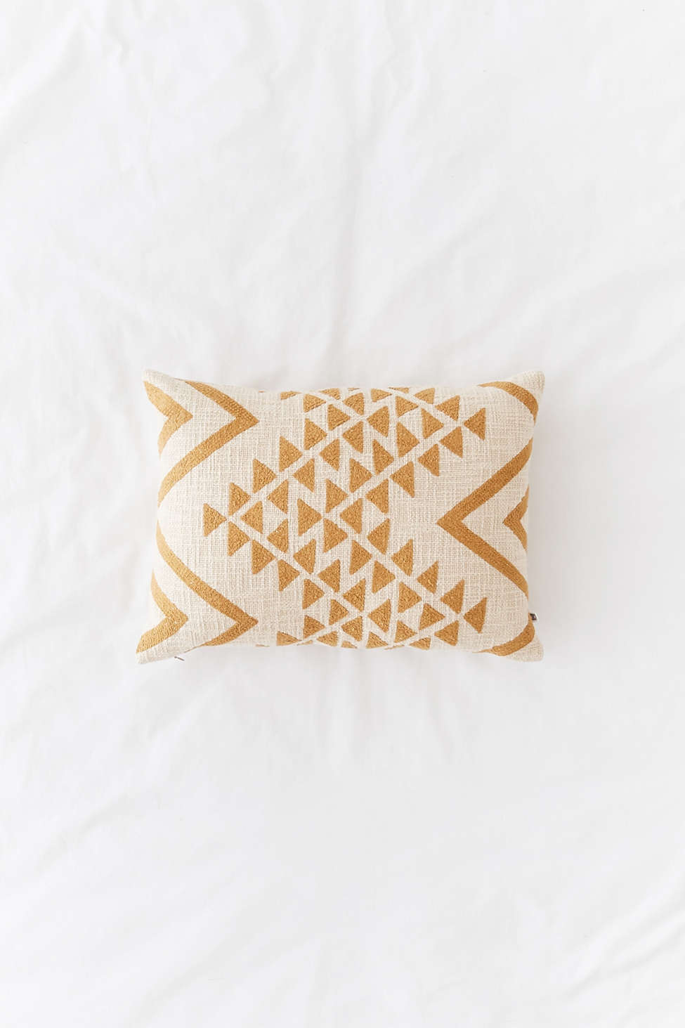 Slide View: 1: Elyse Embroidered Lumbar Pillow