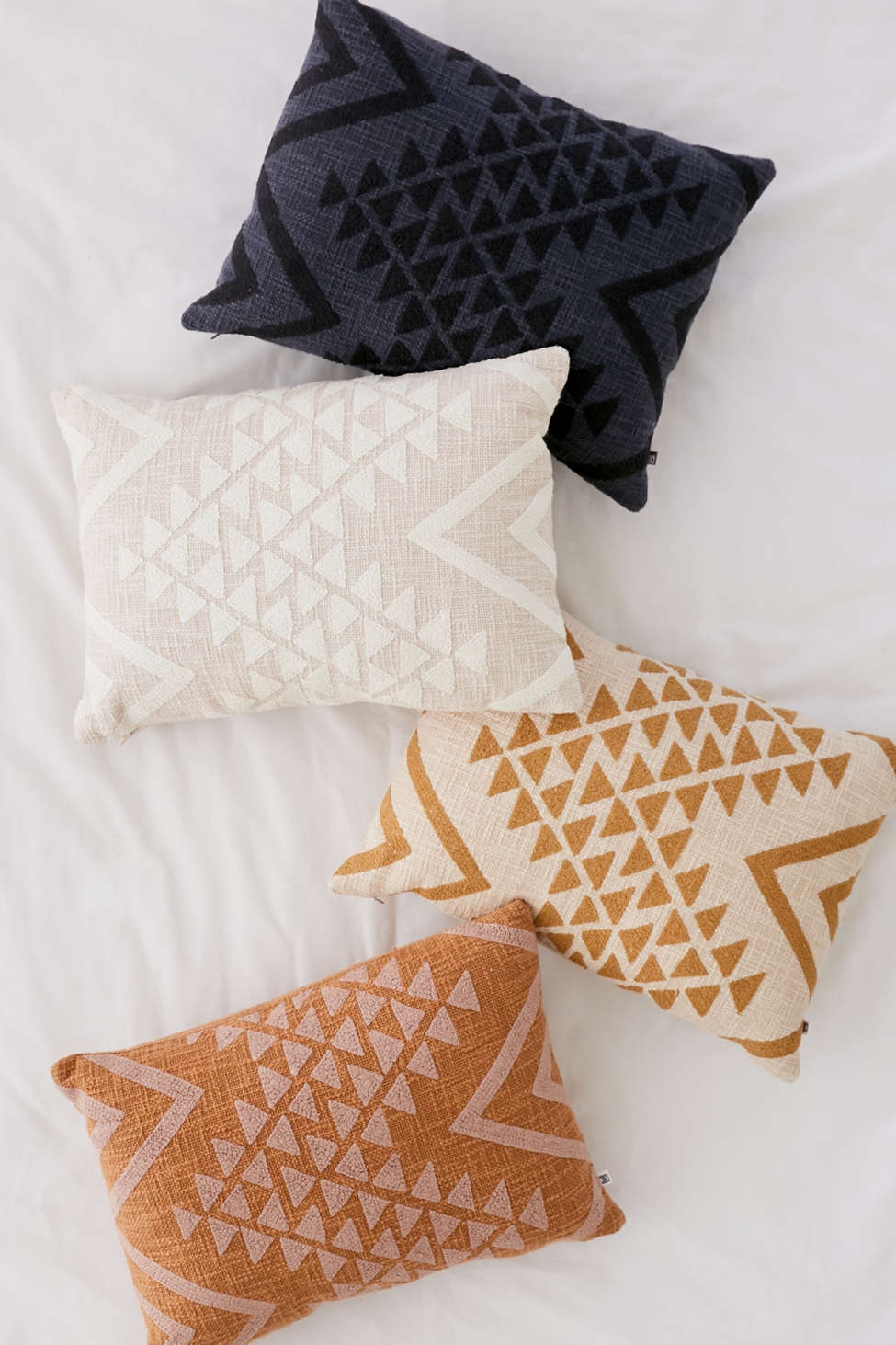 Slide View: 3: Elyse Embroidered Lumbar Pillow