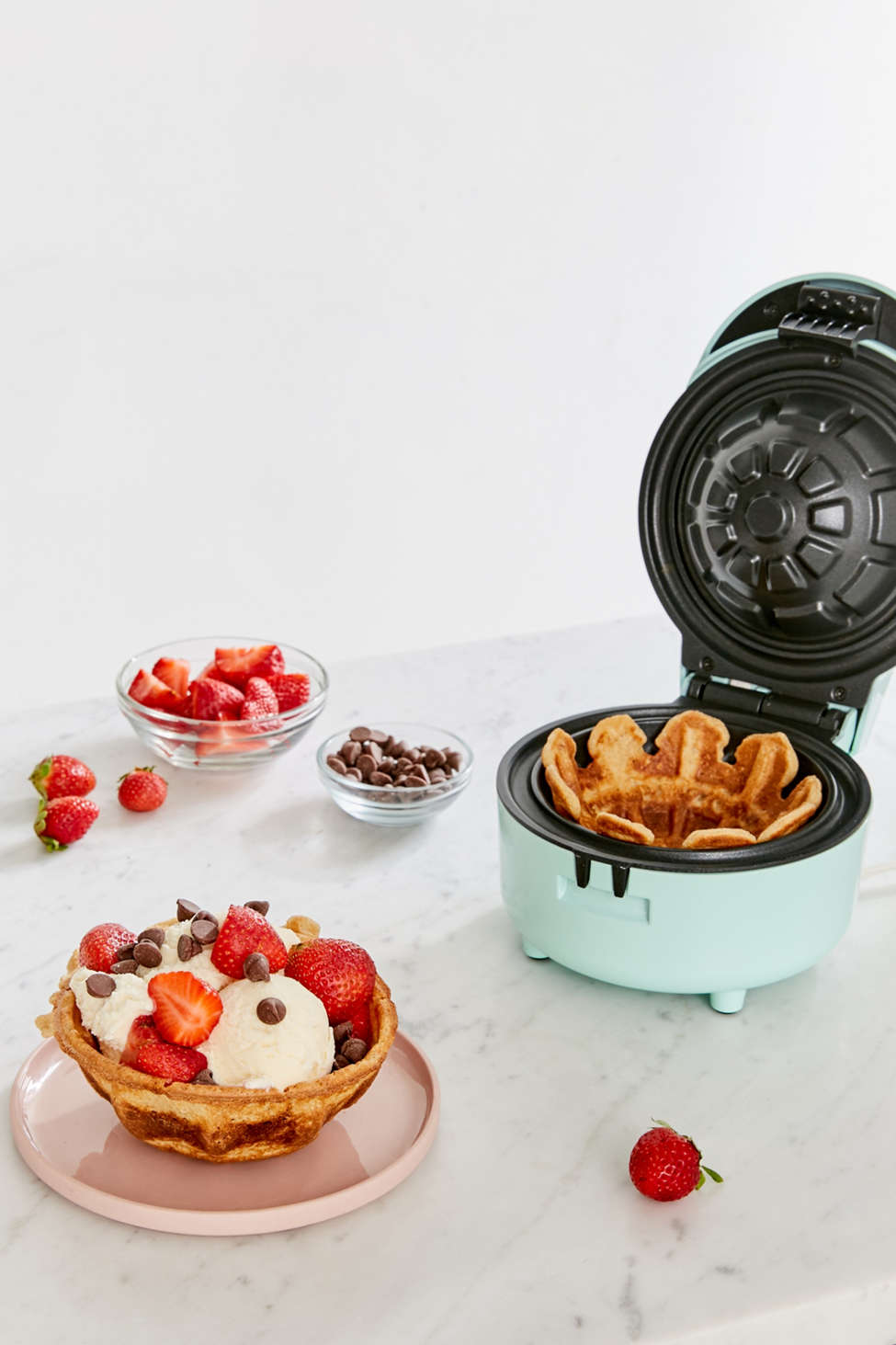Slide View: 1: Mini Waffle Bowl Maker