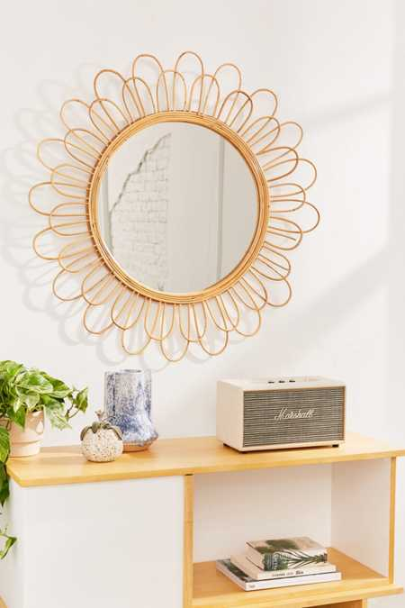 Raquel Rattan Sunflower Mirror