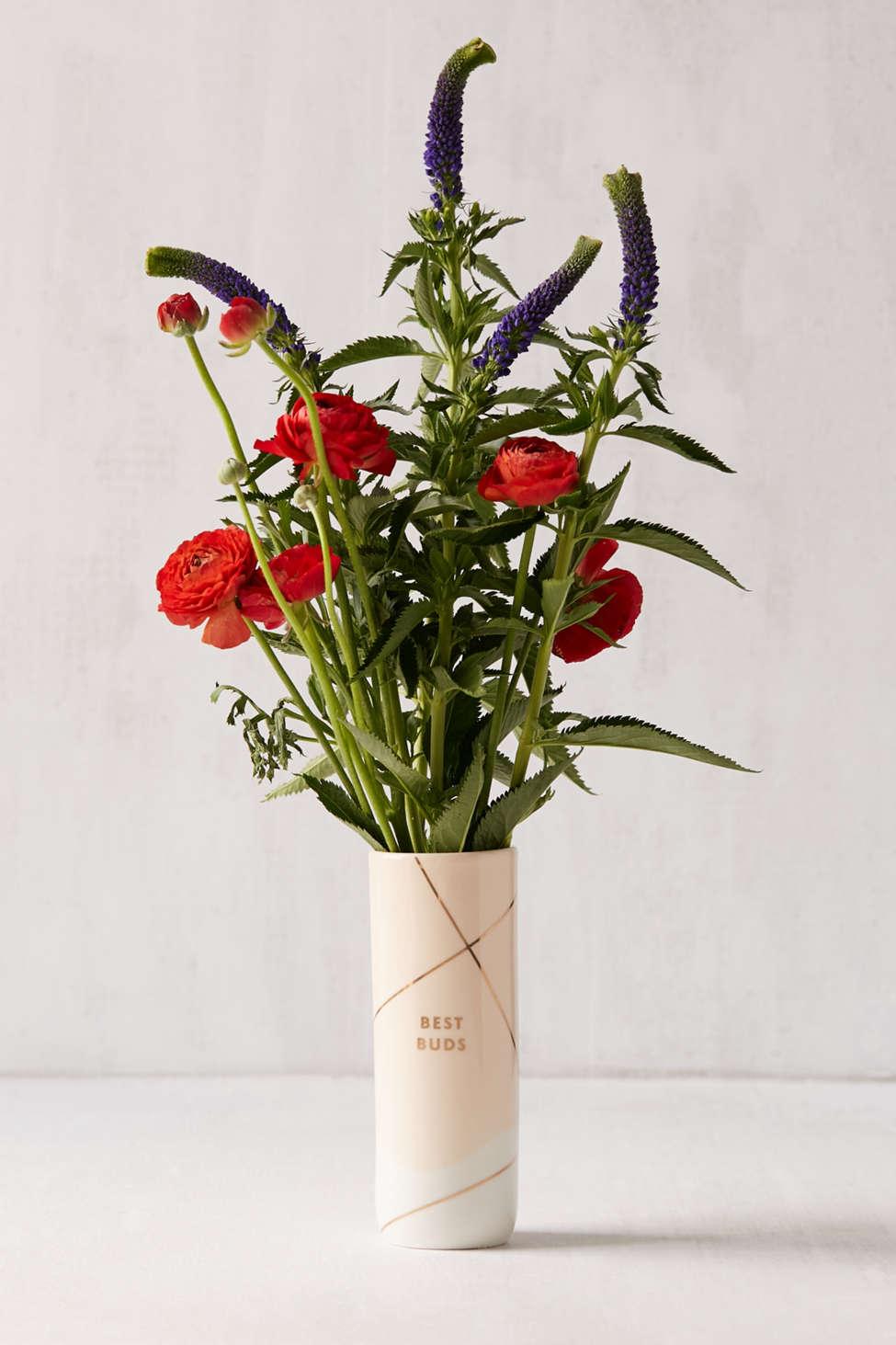 Slide View: 1: Fringe Studio Best Buds Ceramic Vase
