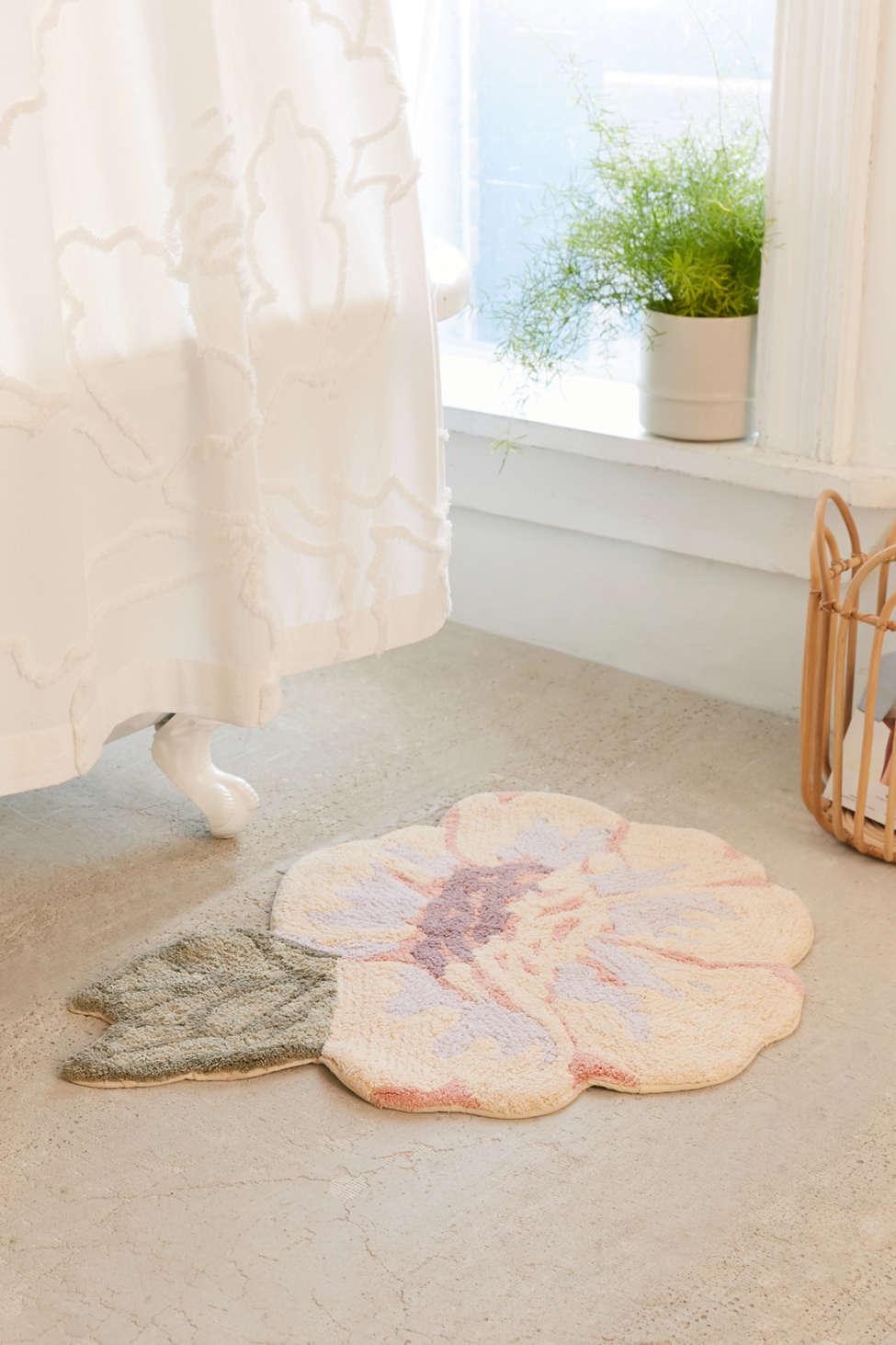 Slide View: 1: Rose Bath Mat