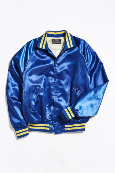 Vintage Embroidered Hawaii Varsity Jacket - Blue L at Urban Outfitters