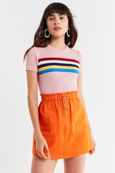 Uo Pari Paperbag Mini Skirt by Urban Outfitters