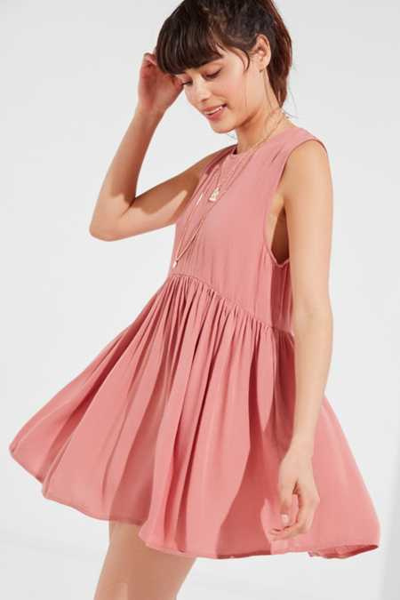 UO Drop-Waist Babydoll Frock Dress