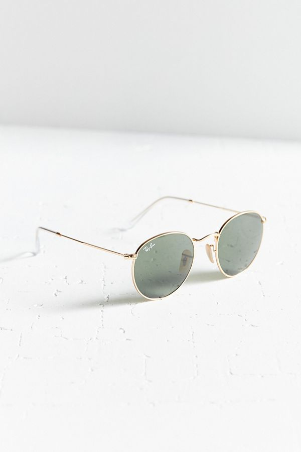 ray ban round metal at collection