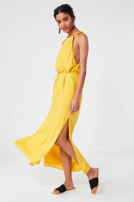UO Blaze High-Neck Maxi Dress
