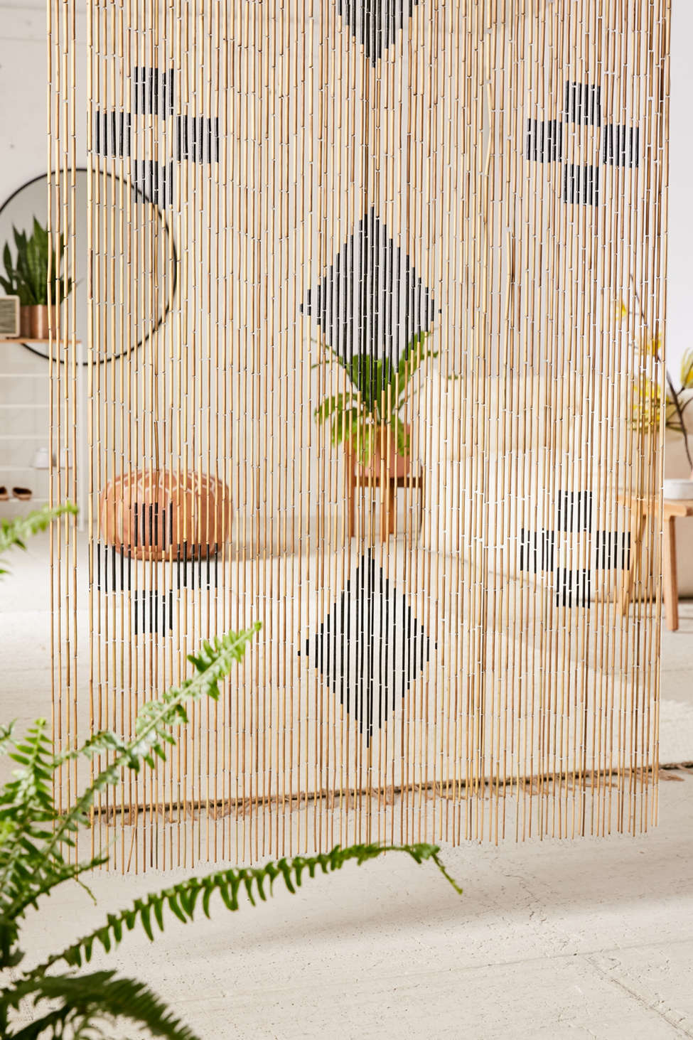 Slide View: 1: Marks Bamboo Beaded Curtain